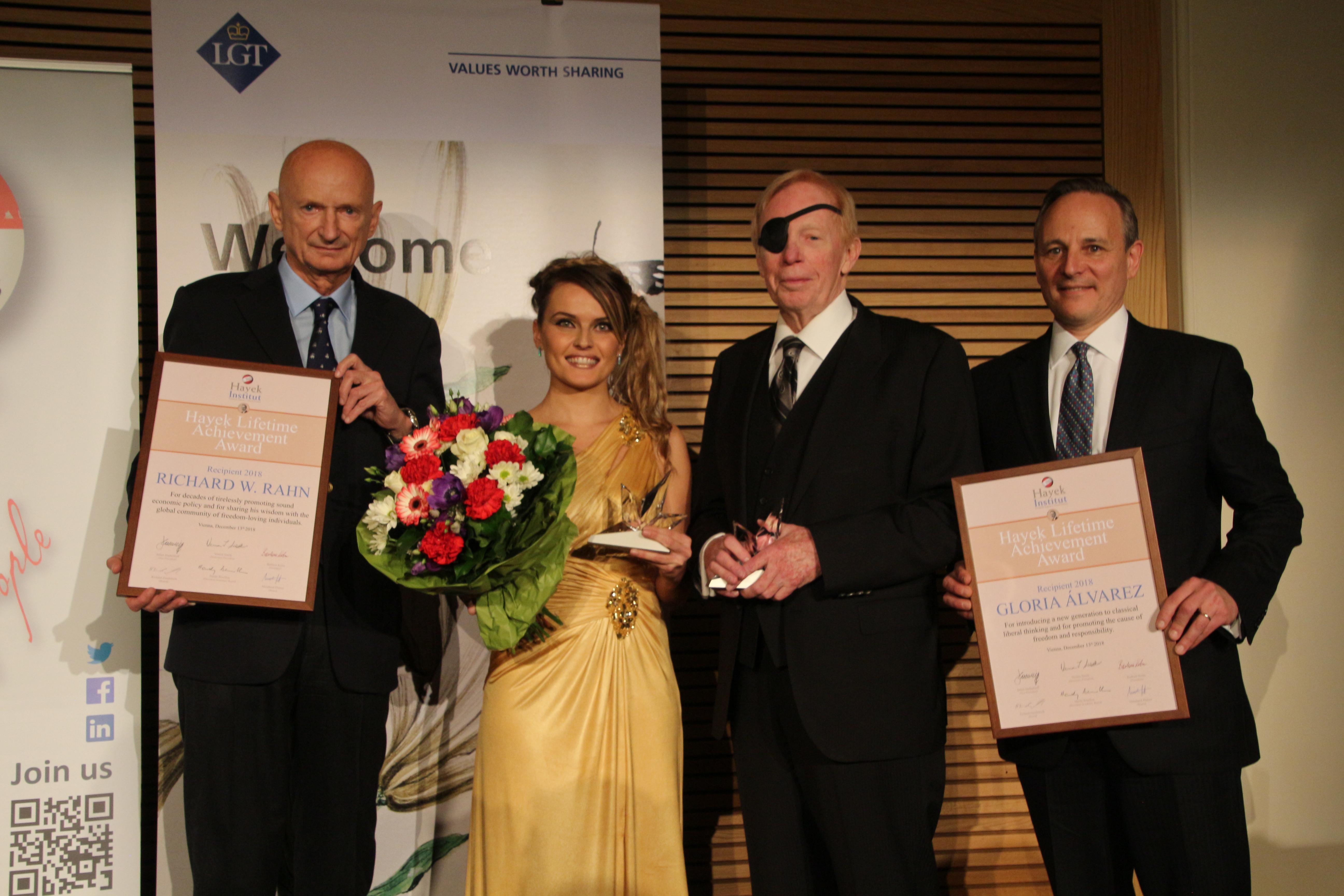 Prinz Michael v. Lichtenstein, Gloria Álvarez, Dr. Richard Rahn, Lawrence Goodman